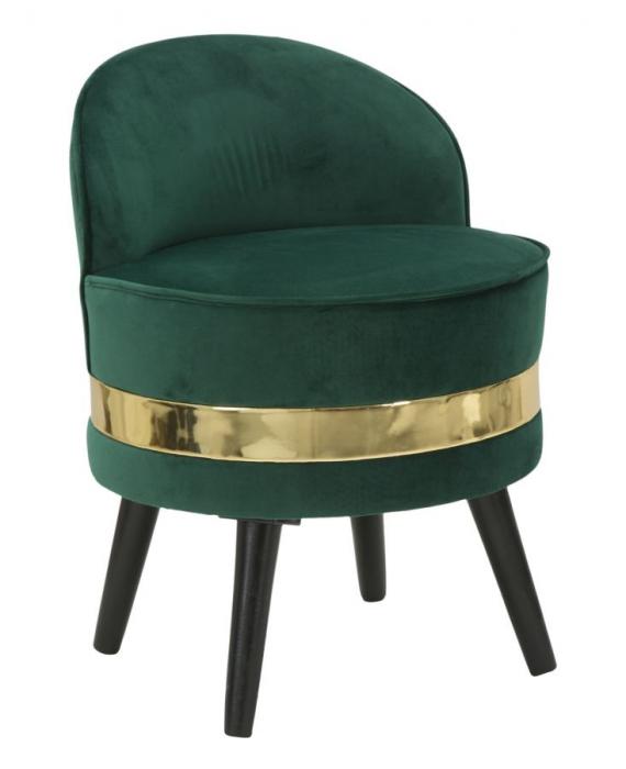 Fotoliu/Taburet PARIS, verde, 45X62 cm, Mauro Ferretti 0
