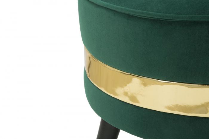Fotoliu/Taburet PARIS, verde, 45X62 cm, Mauro Ferretti 5