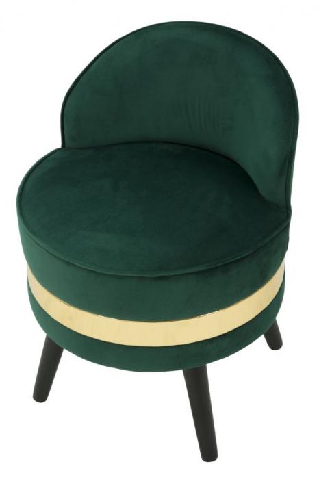 Fotoliu/Taburet PARIS, verde, 45X62 cm, Mauro Ferretti 4
