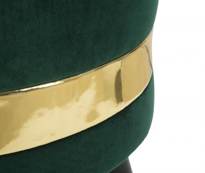 Fotoliu/Taburet PARIS, verde, 45X62 cm, Mauro Ferretti 7
