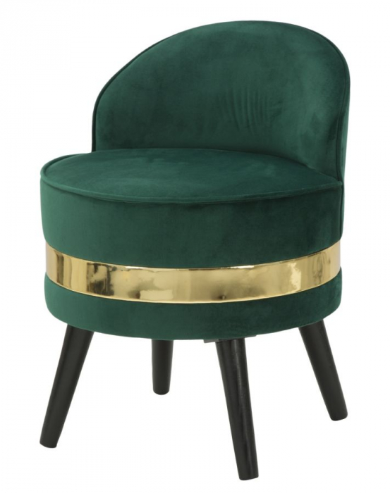 Fotoliu/Taburet PARIS, verde, 45X62 cm, Mauro Ferretti 2