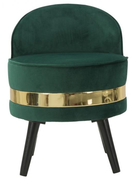 Fotoliu/Taburet PARIS, verde, 45X62 cm, Mauro Ferretti 1