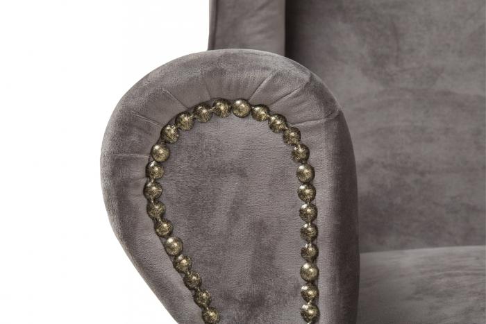 Fotoliu Veneta, Gri argintiu, 85x95x85 cm 4