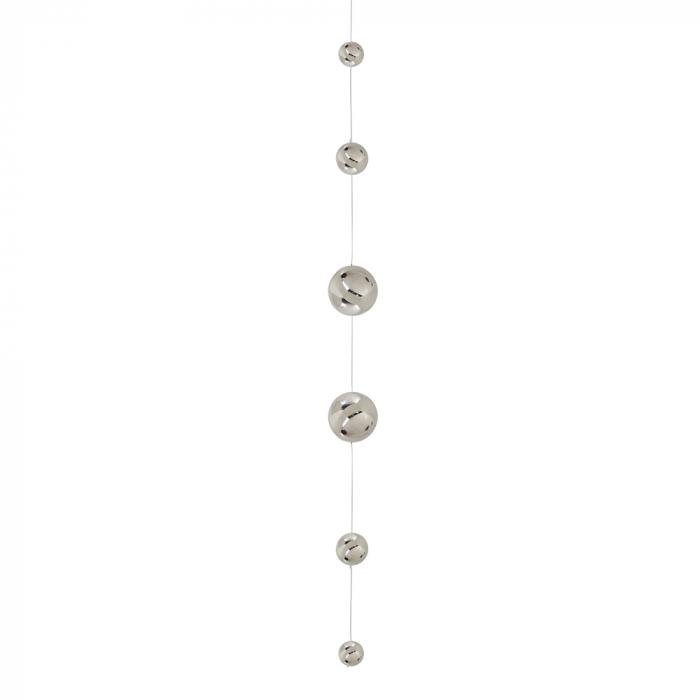 Ghirlanda Balls, otel inoxidabil, argintiu, 11.5x160 cm lotusland.ro