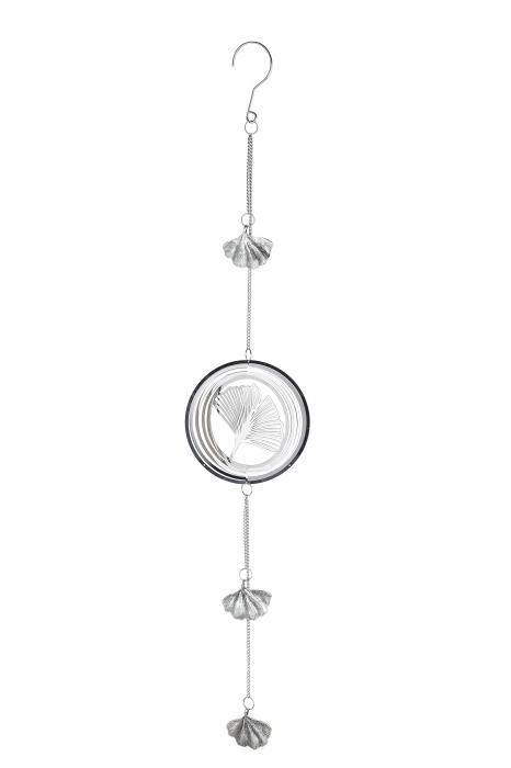 Ghirlanda Gingko, otel, argintiu, 13x75 cm lotusland.ro