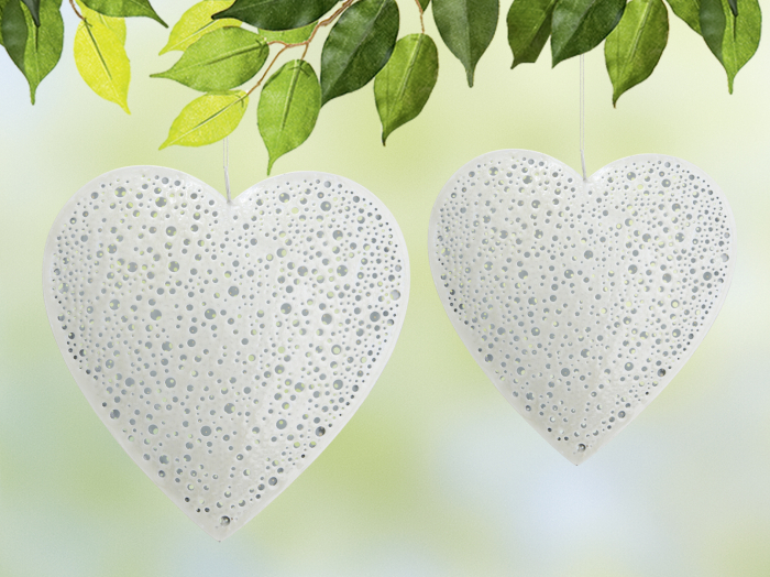 Ghirlanda Heart, metal, gri, 25x25x2.5 cm 2021 lotusland.ro
