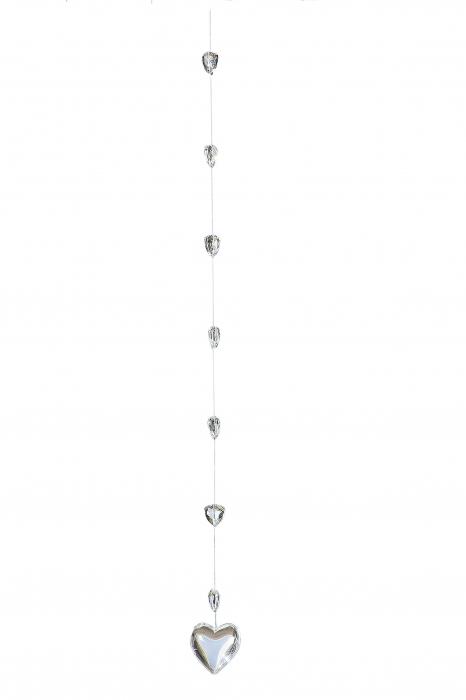 Ghirlanda Herz inimioara, sticla, transparent, 4.5x60 cm imagine 2021 lotusland.ro