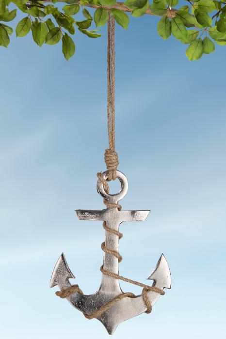 Ghirlanda Maritim, aluminiu, argintiu, 14x38 cm lotusland.ro