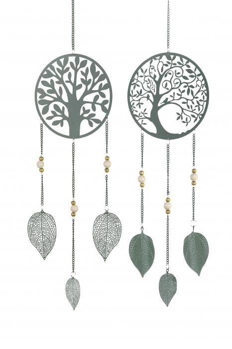 Set 2 ghirlande TREE OF LIFE, metal, 80x18 cm 1