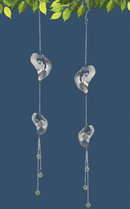 Ghirlanda Swirl, otel, argintiu, 8x81 cm 2021 lotusland.ro