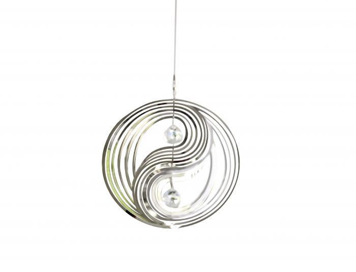 Ghirlanda YIN & YANG, otel/sticla, 76x22 cm [0]