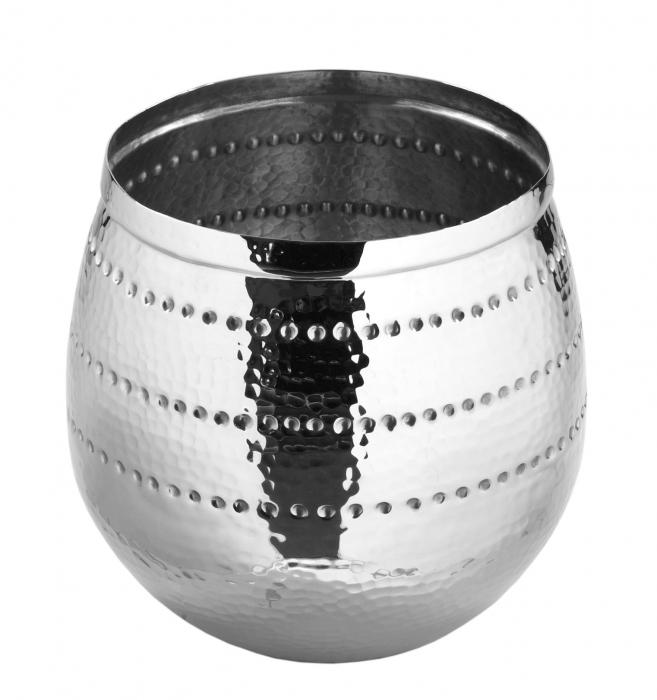 Ghiveci BARDO, aluminiu/nichel, 30x20 cm, Fink [0]