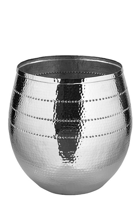 Ghiveci BARDO, aluminiu nichel, 60x60 cm, Fink imagine 2021 lotusland.ro