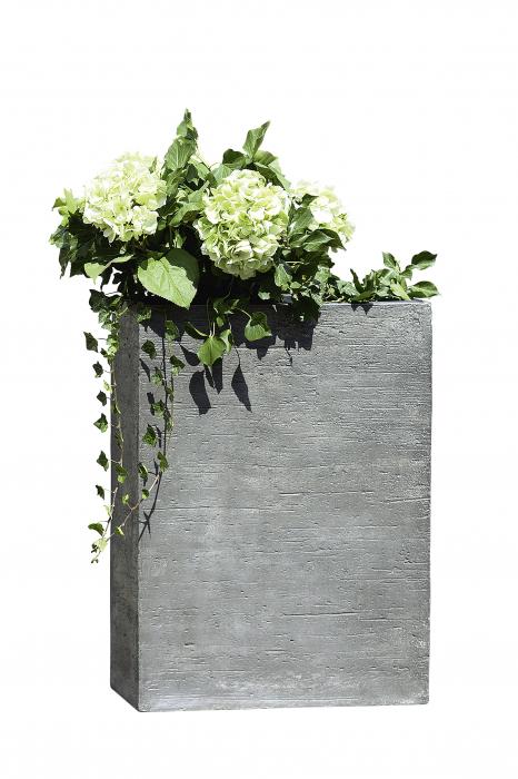 Ghiveci Basaltino, ciment, gri, 63.5x86x33 cm 1