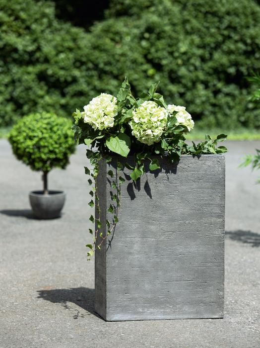 Ghiveci Basaltino, ciment, gri, 63.5x86x33 cm lotusland.ro