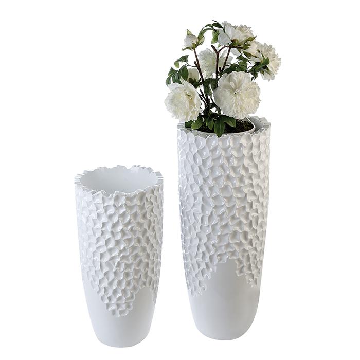 Ghiveci Carve, rasina fibra de sticla, alb, 70x34 cm lotusland.ro