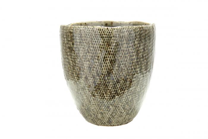 Ghiveci Cestino, ceramica, verde, 13x13x14 cm lotusland.ro