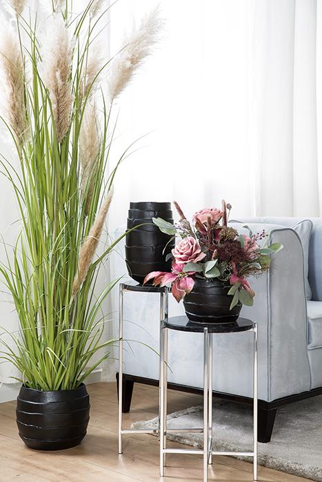 Ghiveci Cocon, Ceramica, Negru, 23x28 cm lotusland.ro