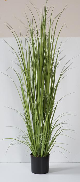 Ghiveci cu floare artificiala Grass, Plastic Fibre artificiale, Verde, 180 cm lotusland.ro
