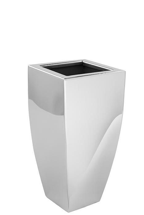 Ghiveci CUBE, inox, 25x12x12 cm,Fink 0