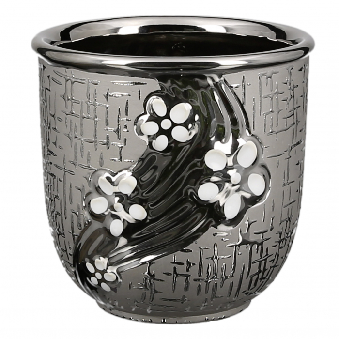 Ghiveci Daisy, ceramica, argintiu, 13x13x13 cm 1
