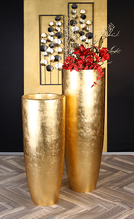 Ghiveci KONUS, compozit, auriu, 92x36 cm 5