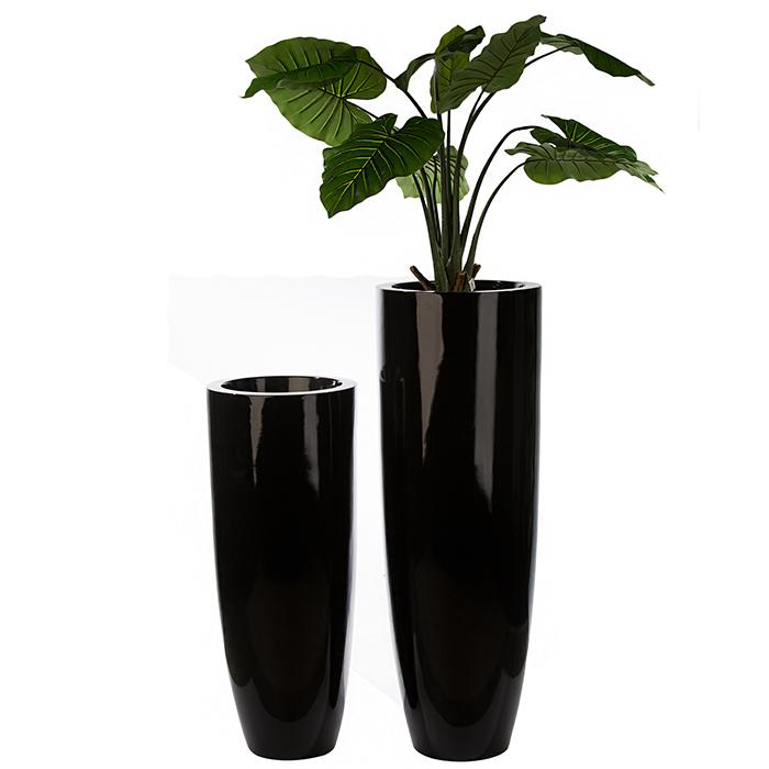 Ghiveci KONUS, compozit, negru, 92x36 cm 1