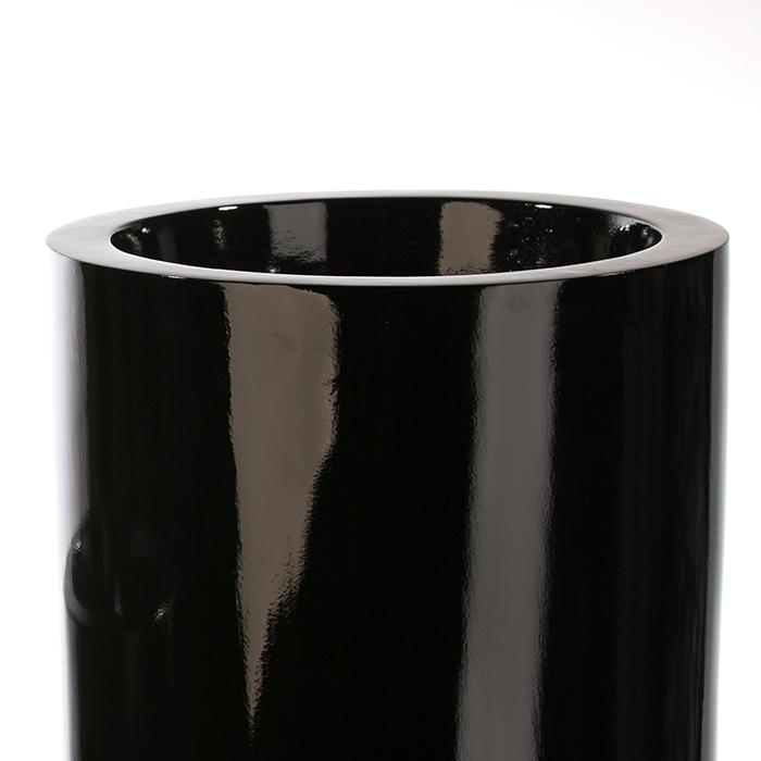 Ghiveci KONUS, compozit, negru, 92x36 cm 2