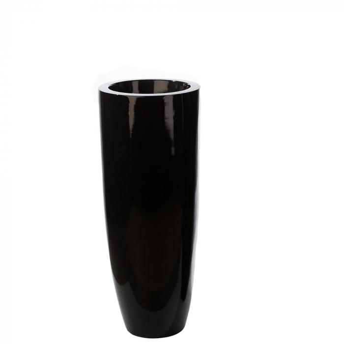 Ghiveci KONUS, compozit, negru, 92x36 cm 0