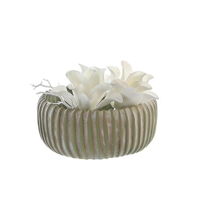 Ghiveci LAOTSE, ceramica, 24x10 cm imagine 2021 lotusland.ro