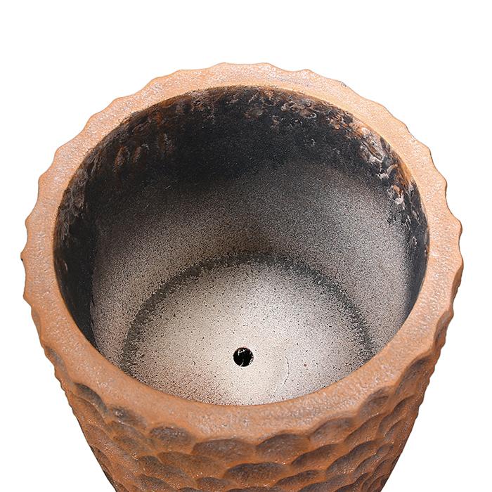 Ghiveci Lava, compozit, maro, 70x33 cm 4