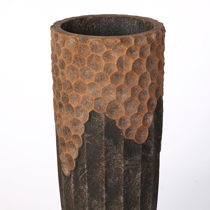 Ghiveci Lava, compozit, maro, 70x33 cm 1