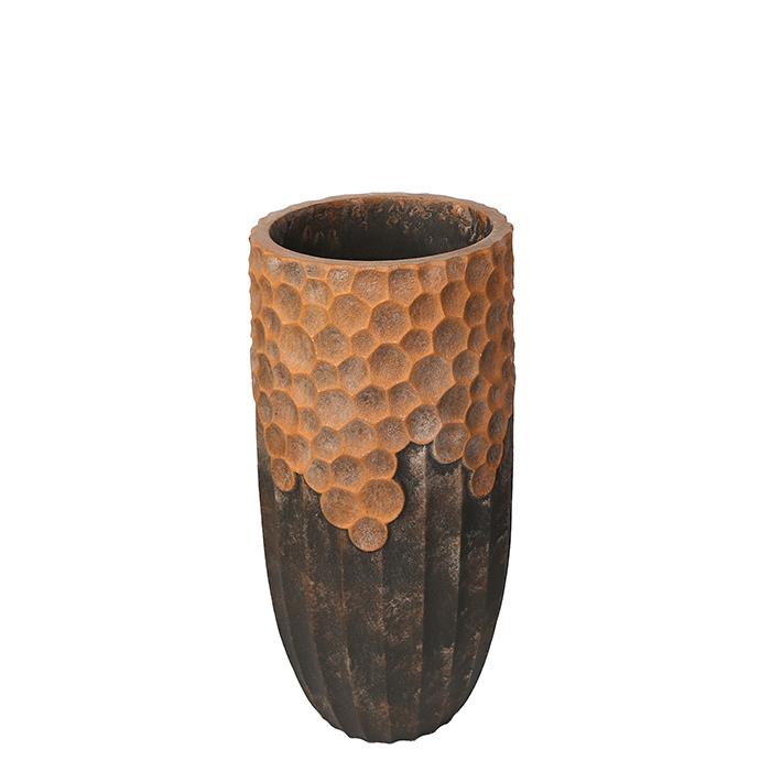 Ghiveci Lava, compozit, maro, 70x33 cm 0