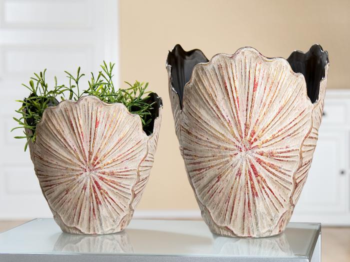 Ghiveci Lotus leaf, ceramica, multicolor, 23x23x22 cm 0