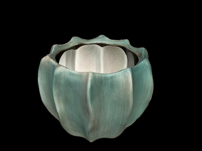 Ghiveci rotund KAMPA, ceramica, 23x16 cm 0