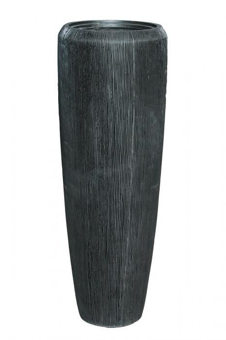 Ghiveci vaza int. ext. CARBON, policarbonat, 34x97 cm 2021 lotusland.ro