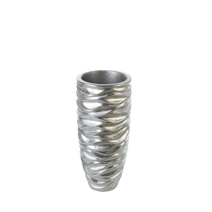 Ghiveci Waves, rasina fibra de sticla, argintiu, 76x35 cm imagine 2021 lotusland.ro