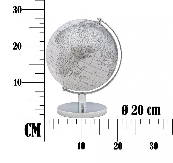 Glob alb/argintiu, CM Ø 20X28, Mauro Ferretti [6]