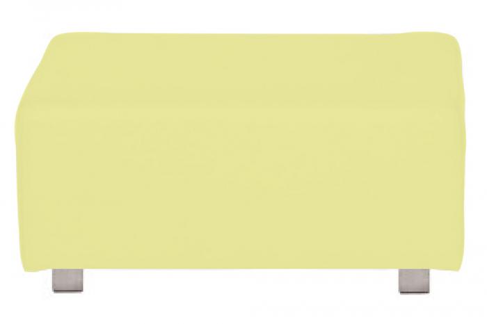 Husa taburet Carlo, Acril, Galben, 80x45 cm 2021 lotusland.ro