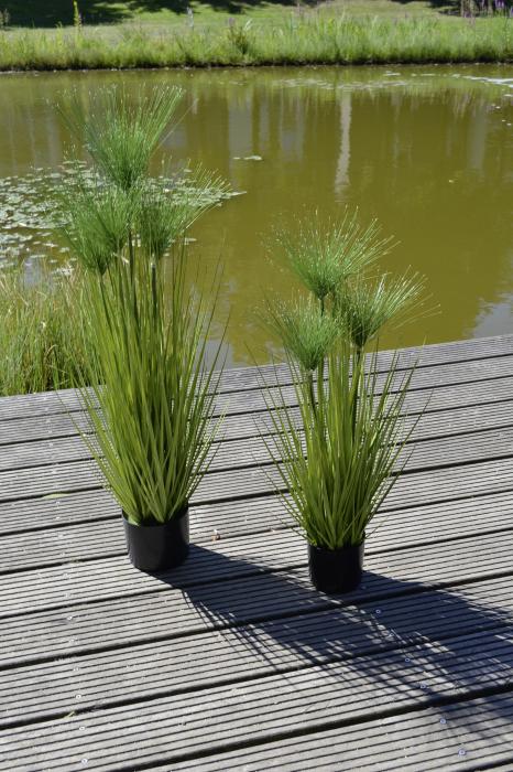 Iarba decorativa la ghiveci Cycas, artificial, verde, 100 cm 1