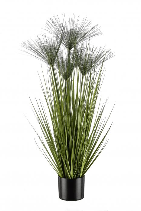 Iarba decorativa la ghiveci Cycas, artificial, verde, 100 cm 0