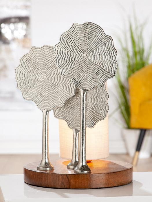 Lampa FLOWER, aluminiu/lemn, 37x25.5 cm 0