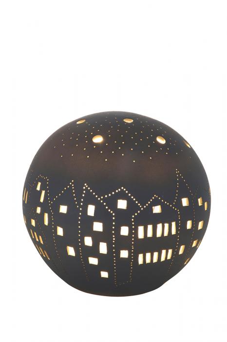 Lampa BALL CITY, portelan, 16 x 16 x 16 cm imagine 2021 lotusland.ro