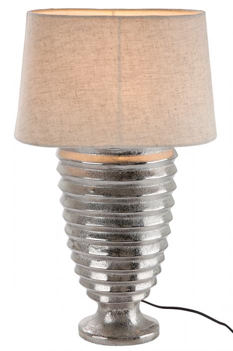 Lampa Corteza, aluminiu, crem argintiu, 20x13x42 cm imagine 2021 lotusland.ro