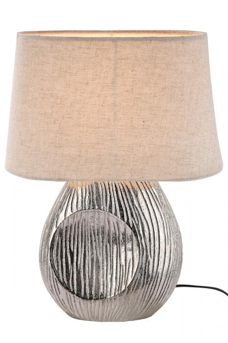 Lampa Corteza, aluminiu, crem argintiu, 22x10x34 cm 2021 lotusland.ro