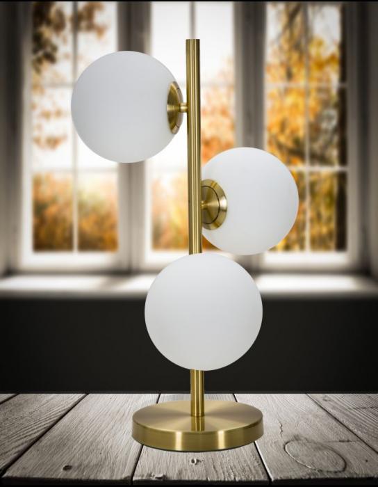 Lampa de masa GLAMY 3 surse (cm) Ø 26x54 4
