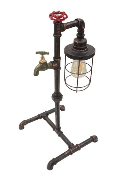 Lampa de masa MANHATTAN/CAGE (cm) 27X27X56 4