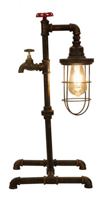 Lampa de masa MANHATTAN/CAGE (cm) 27X27X56 5