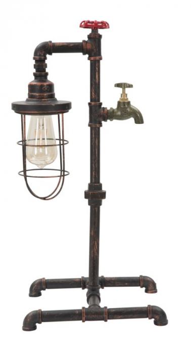 Lampa de masa MANHATTAN/CAGE (cm) 27X27X56 2