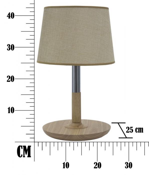 Lampa de masa  WOOD&STEEL Ø (cm) 25X42 5